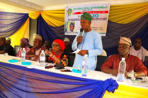 ETI-OSA LOCAL GOVERNMENT HOLDS ITS YEAR 2020 STAKEHOLDERS PARTICIPATORY FORUM AHEAD OF 2020 BUDGET PREPARATION.